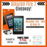 Holiday Gift Guide: Amazon Fire 7 Giveaway – ends 12/26