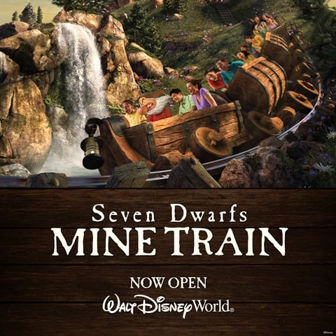 Seven Dwarfs Mine Train Now Open