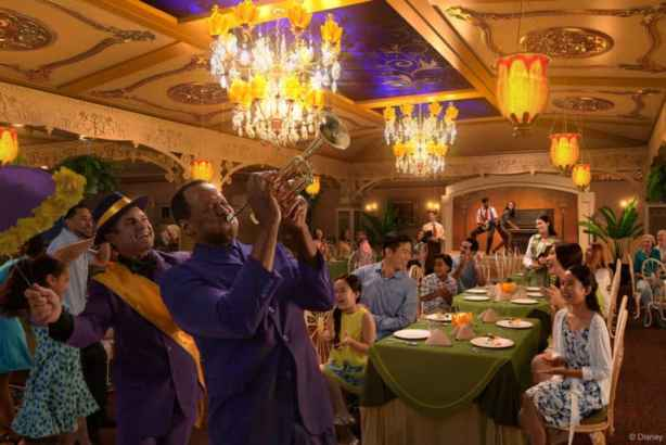 Disney wonder tianas place restaurant