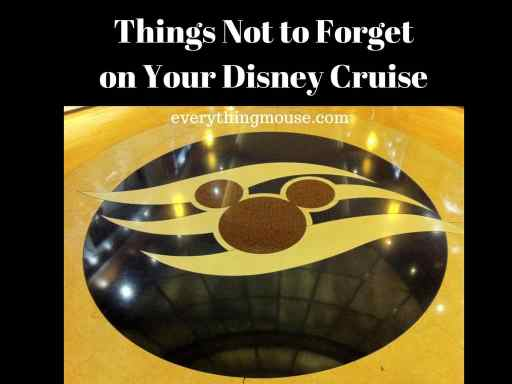 Things Not to Forget on Your Disney Cruise (2)
