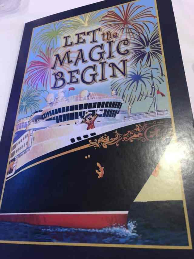 disney cruise menu