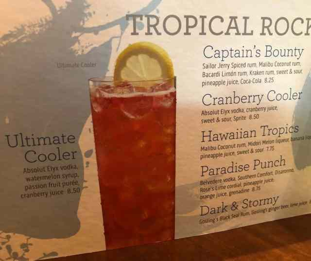tropical cocktailsprincesscruise