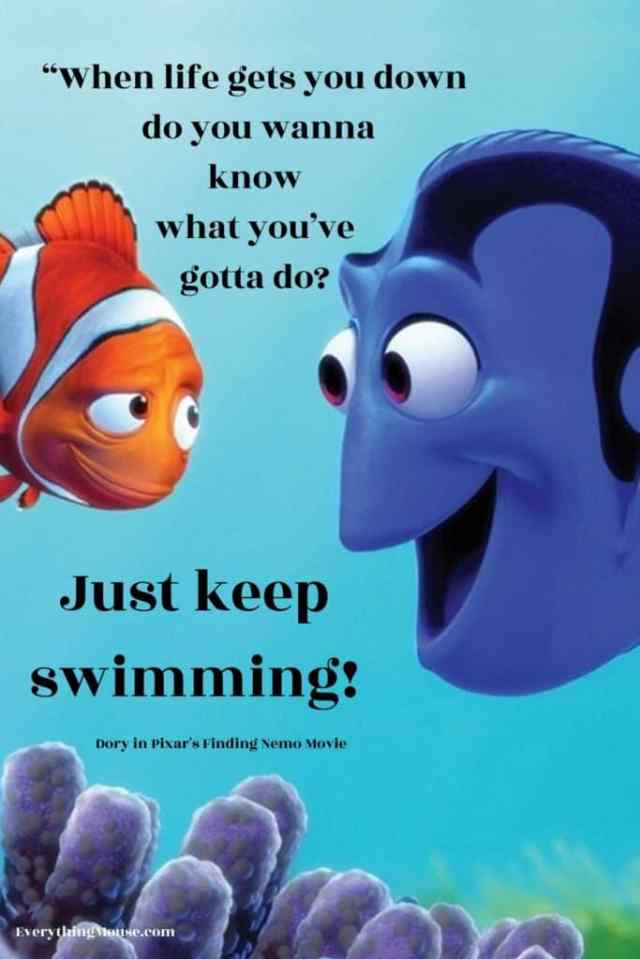 just keep swimming finding nemo