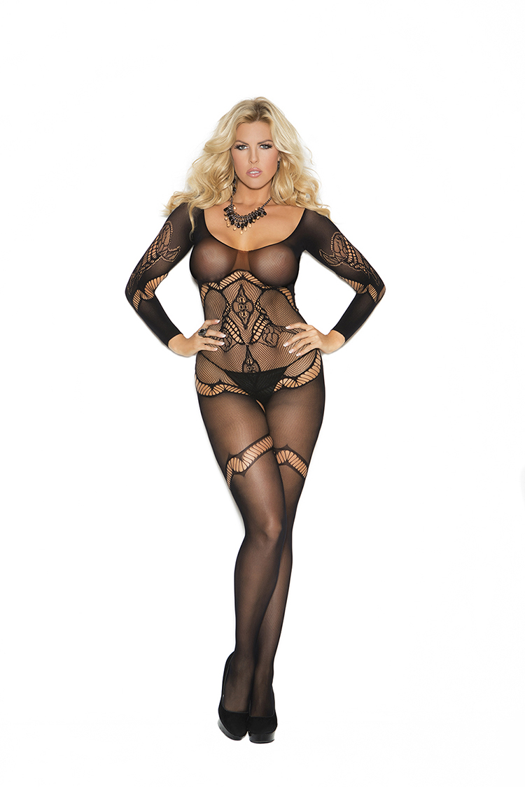 Queen Crochet Bodystocking W/Design