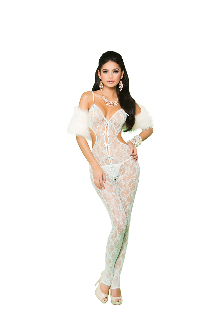 Lace Bodystocking w/Bow