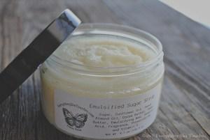 emulsified sugar scrub, sugar scrub, foot scrub, body polish, exfoliate, Everything She Touches, handmade cosmetics