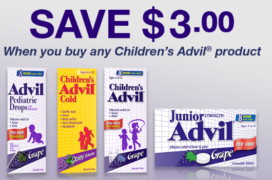 graphic regarding Advil Printable Coupon referred to as Bundle Notify: Childrens Advil Cost-free Funds Manufacturer!