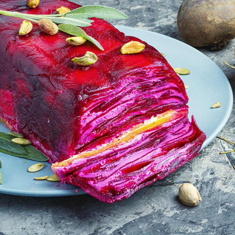 beet & cheese terrine is one of the 21 Best Vegan Christmas Dinner Recipes
