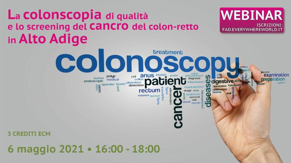 La colonscopia di qualità  e lo screening del cancro del colon-retto  in Alto Adige
