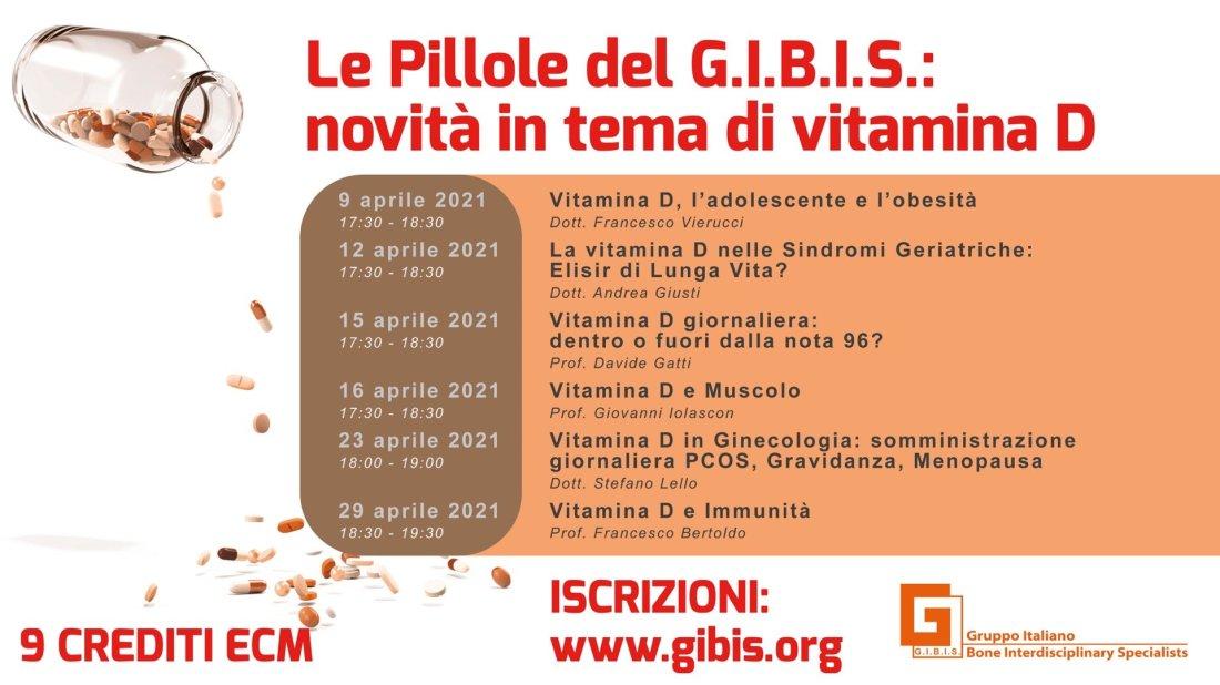 Le Pillole del G.I.B.I.S.:  novità in tema di vitamina D