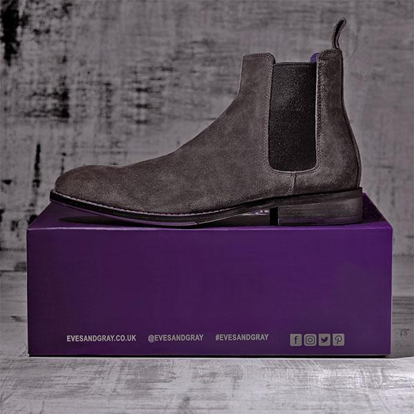 Italian Suede Leather Charcoaol Chelsea Boot - Atlas 2