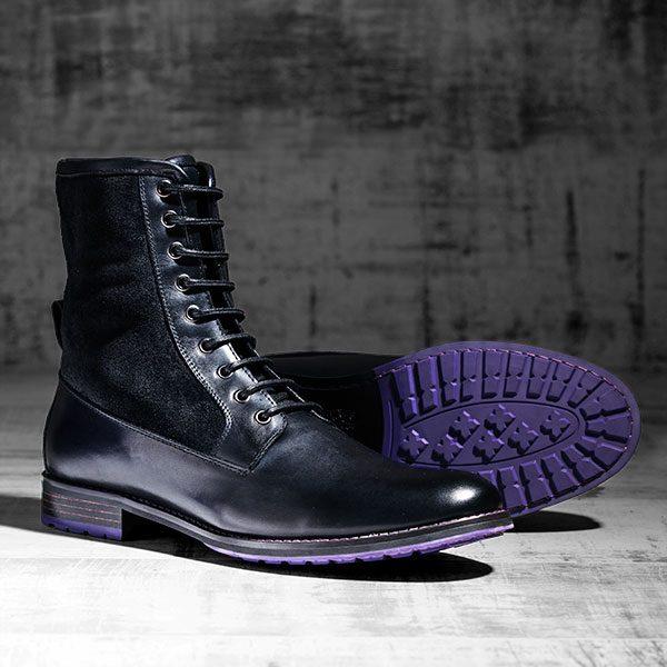 Black Italian Leather Ankle Boot - Maxamillion Black 1