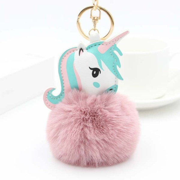 Pink Unicorn Keyring