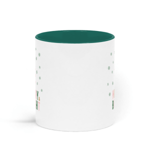 Green Christmas mugs