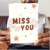 Miss you postcard and greeting card to send by post to friends and family
