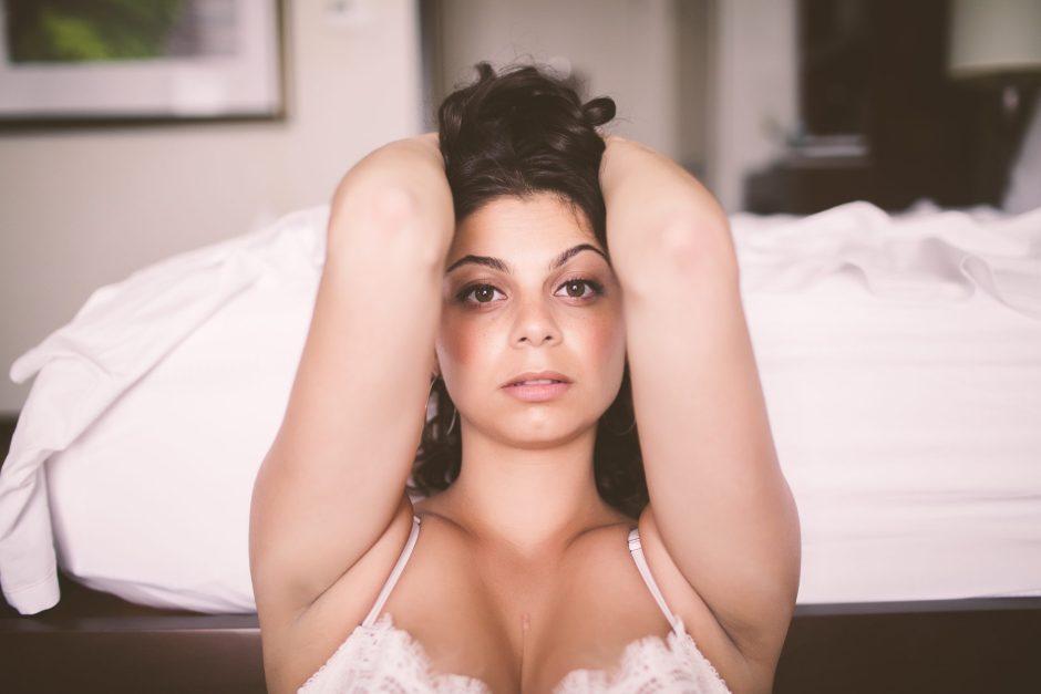 Sensual Closeup Boudoir Photo