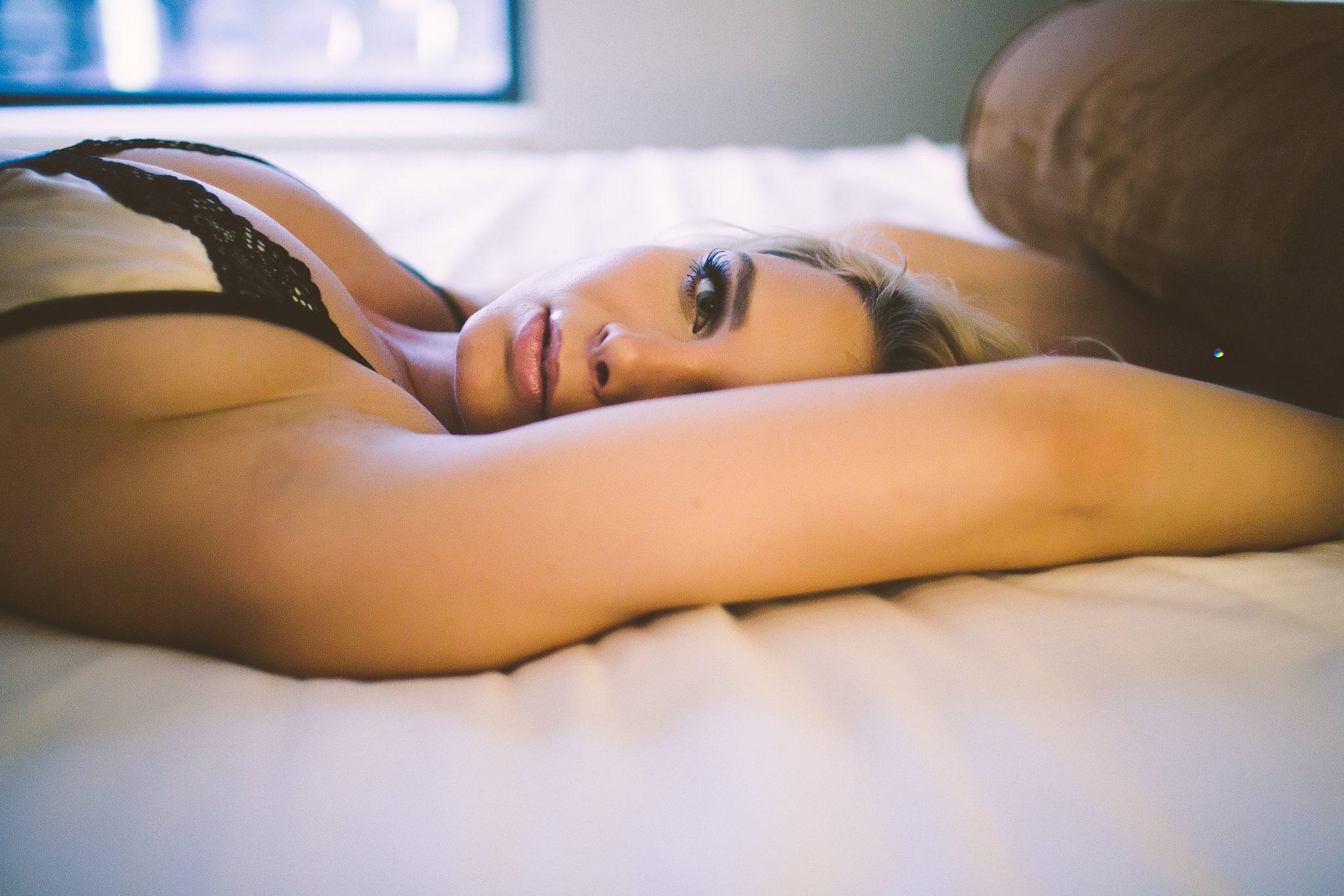 Taking boudoir photos for a bachelorette party
