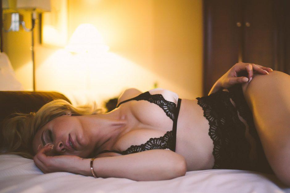 A classy boudoir session