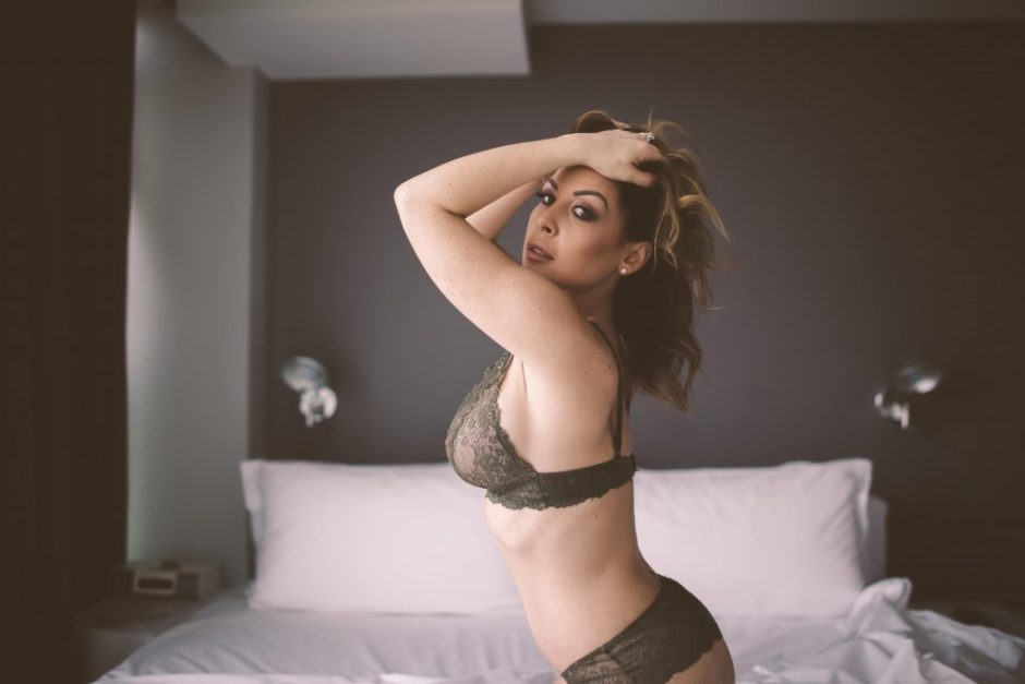 A boudoir session in NYC