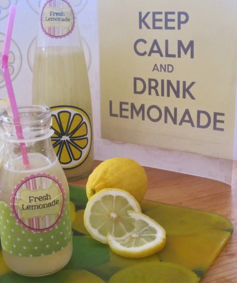 Homemade lemonade!