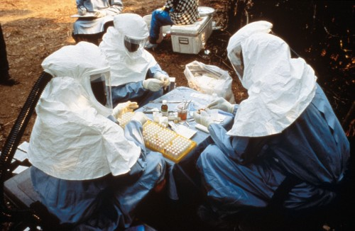 Collecting ebola samples