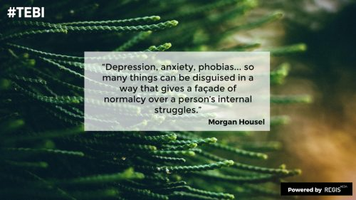 Morgan Housel quote on having a stutter