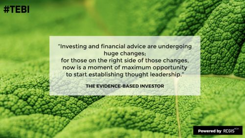 evidence-based advisers need to take new approaches to investing