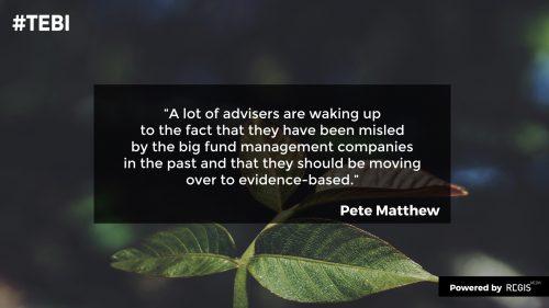 Pete Matthew quote on advisers needing to wake up
