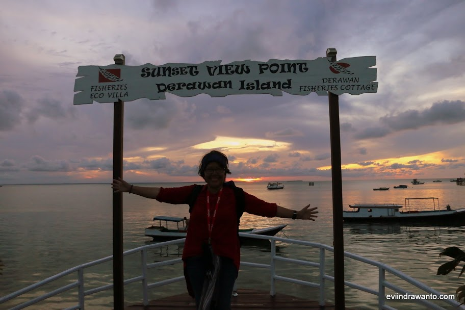 Sunset point di muka Fisheries Eco Villa