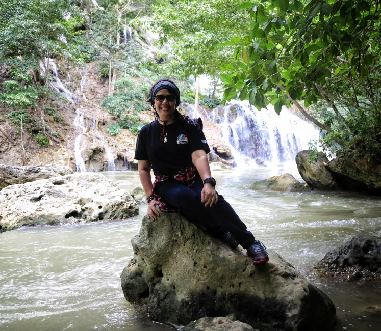 Habis trekking berkeringat dan lepek