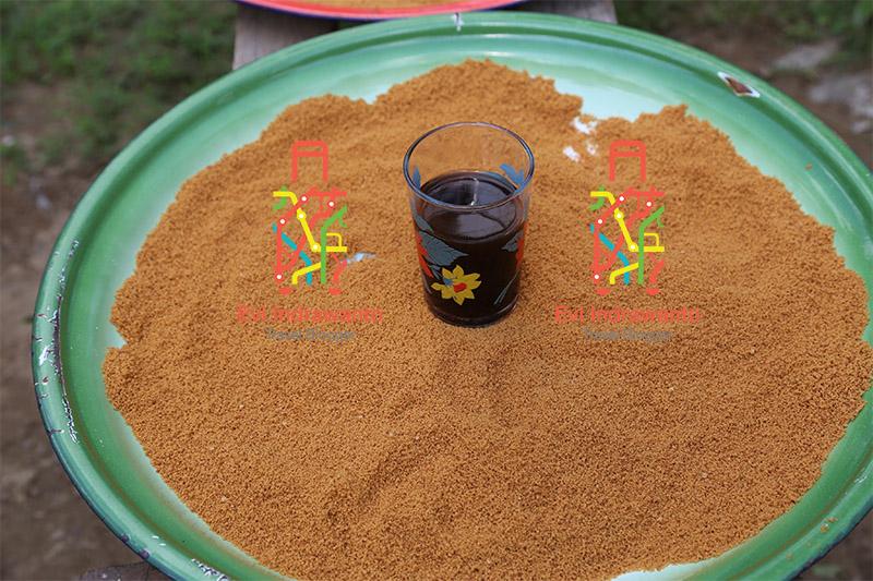 Gula aren organik dari Malapari untuk minum kopi