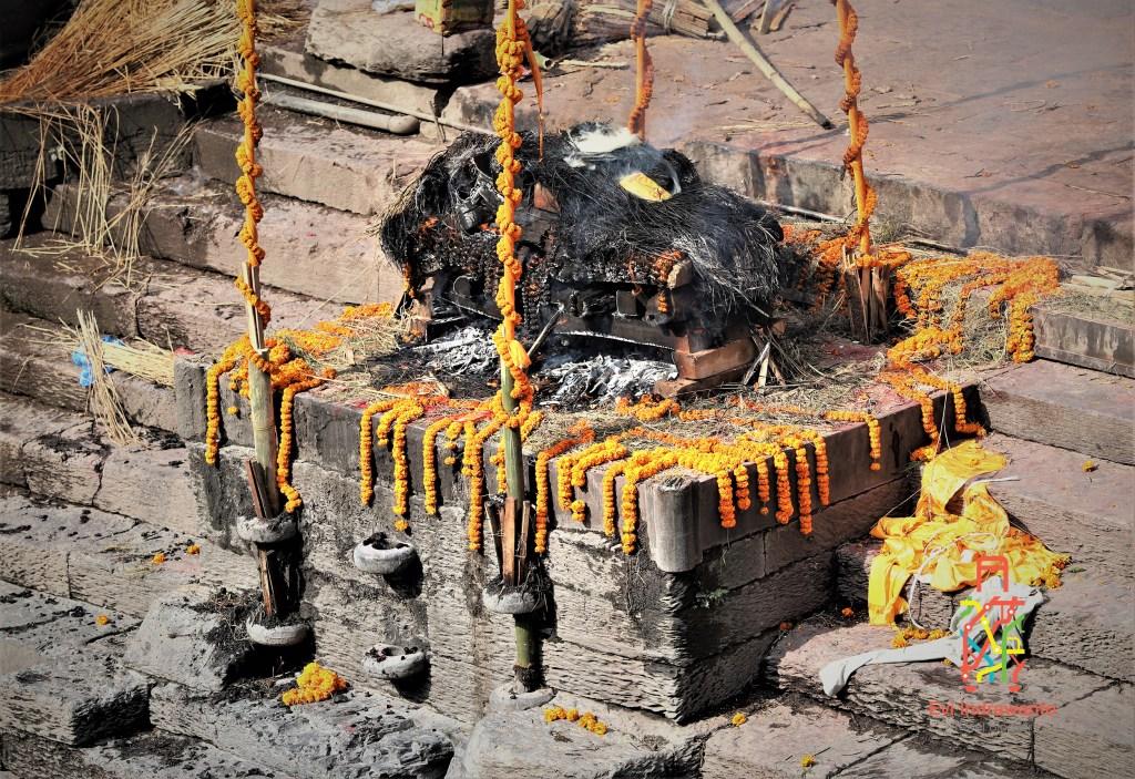 Abunya akan dihanyutkan ke Bagmanti untuk nanti sampai ke Sungai Gangga