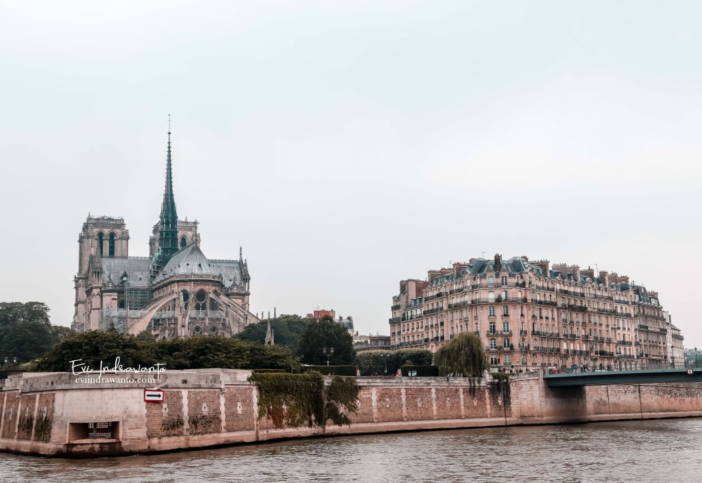 Notre Dame view from the Seine River