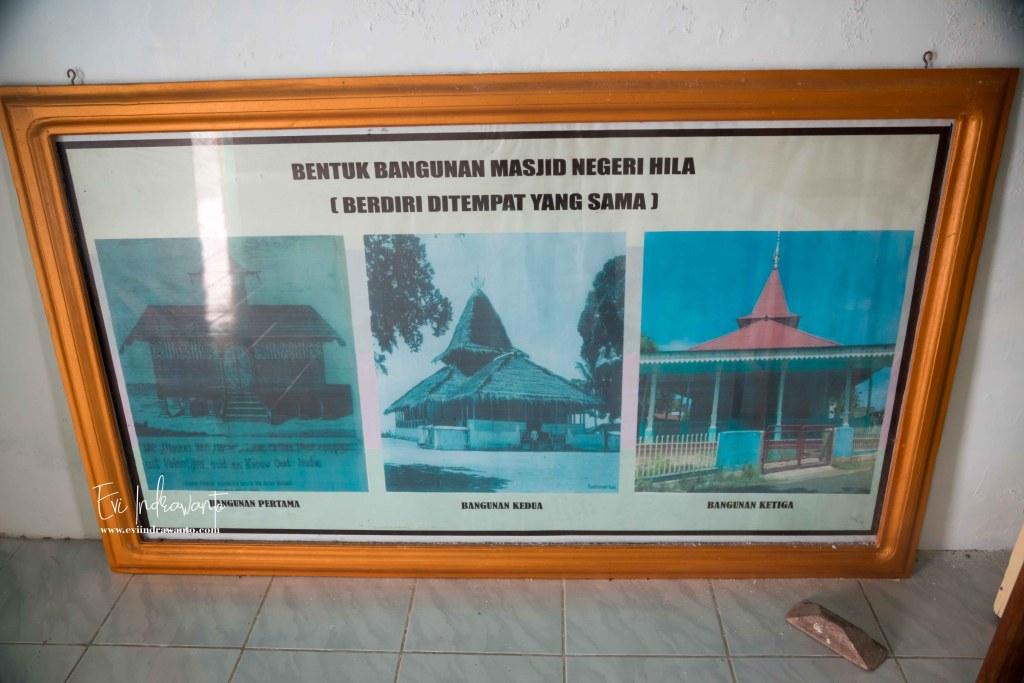 Foto yang menjelaskan sejarah Mesjid Ulihalawang
