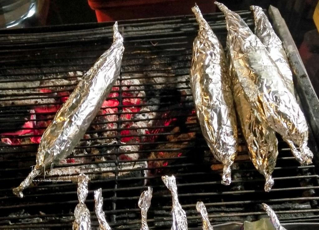 Ikan bakar bungkus aluminium