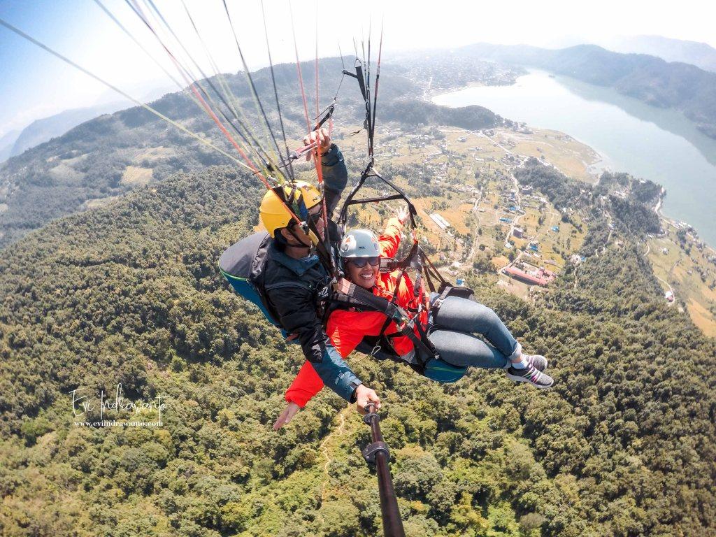 Tandem paralayang Pokhara - Tandem Paragliding Pokhara Nepal