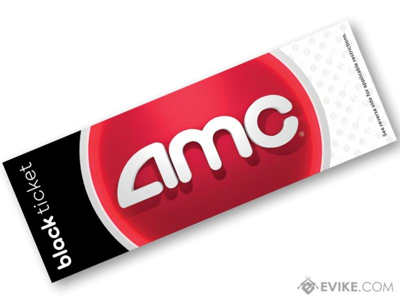 AMC Theater Black Movie Tickets  Package  1 Ticket    Evike com AMC Theater Black Movie Tickets  Package  1 Ticket