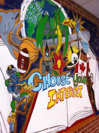 Choose Your Interest - OHS Mural - close-up