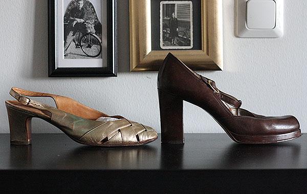 Block Heel Slingback Court Shoe