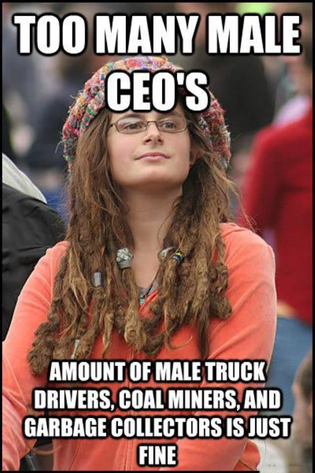 Image result for feminist ceo meme