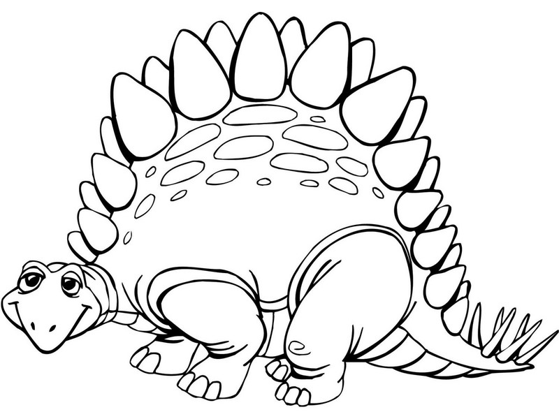 Baby Pages T Rex Coloring