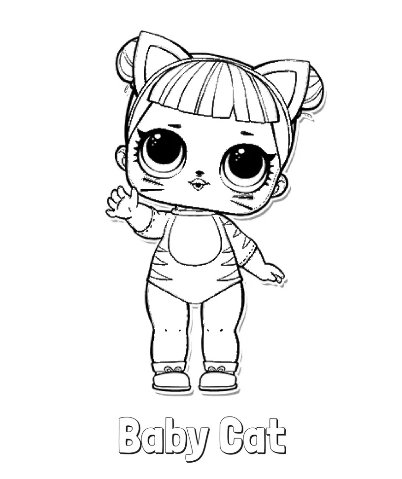 Miss Baby Lol Doll Coloring Pages Free Coloring Pages Globalchin