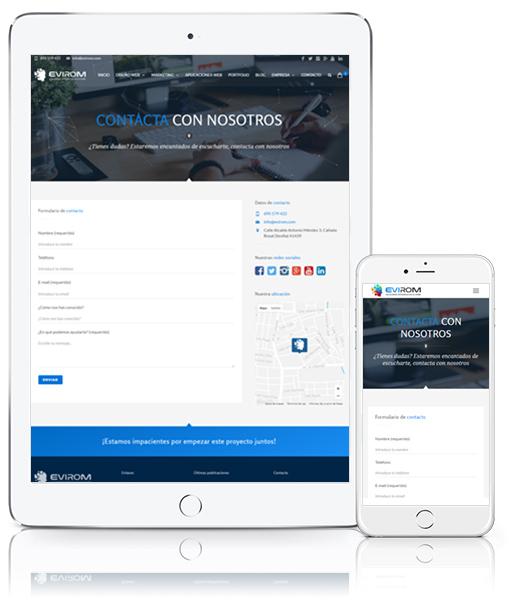Diseño Web de Página Web en Écija, Córdoba y Sevilla - ipad y móvil