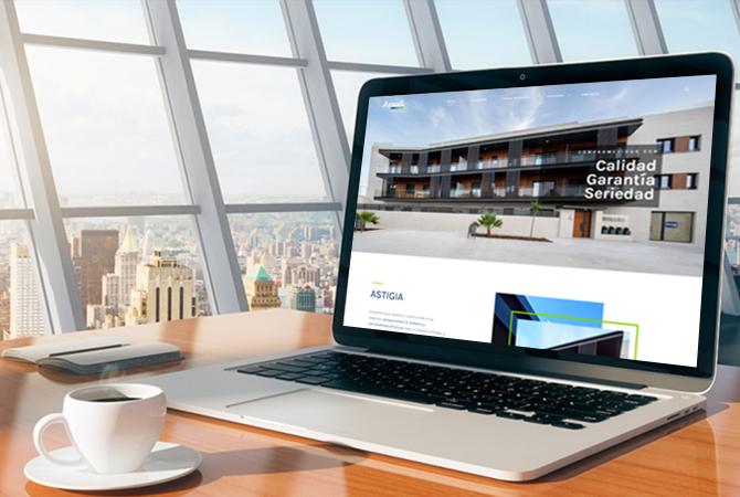 Diseño Página Web Astigia Constructora, por Evirom