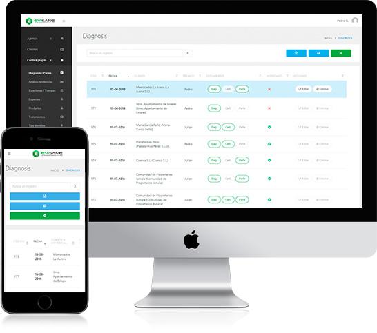 EviSane - Software para empresas de control de plagas y sanidad ambiental
