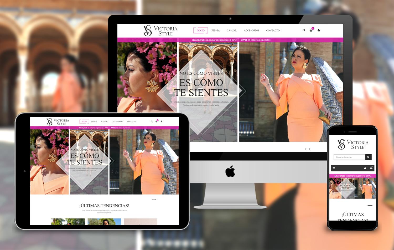 Proyecto Victoria Style - Diseño de Tienda Online a medida en Sevilla