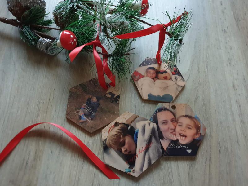 houten kersthangers cadeau kerst