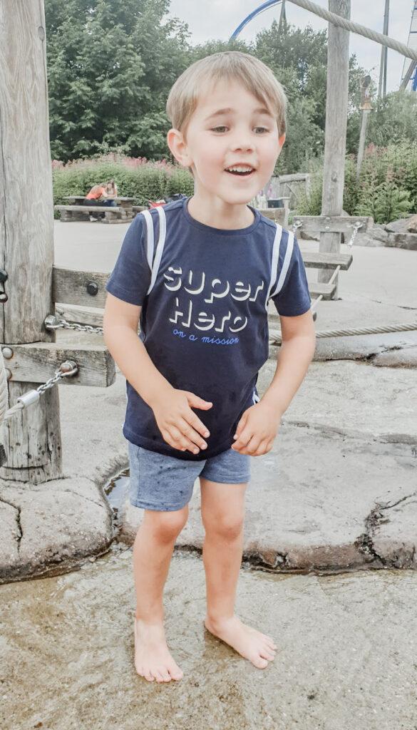 Toverland: spelen in de waterfontein