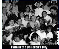 Evita in the Children's City.