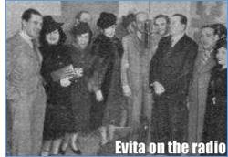 Evita on the radio